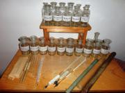 Viele alte Labor-