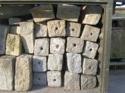 Viele Granit - Randsteine
