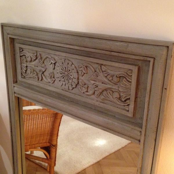 Vintage Spiegel Mit Echtholzrahmen In Grau In Munchen Garderobe