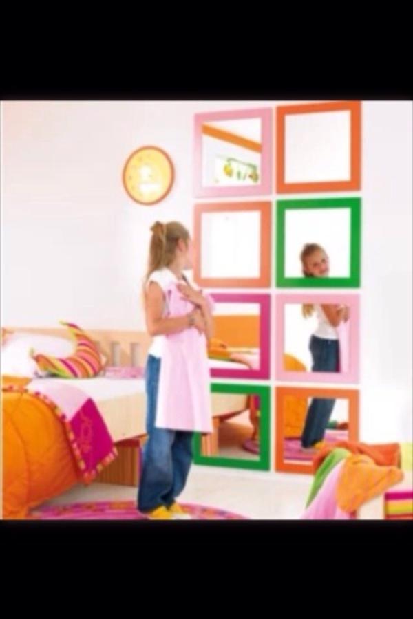 wandspiegel spiegel kinderzimmer mädchen pink 2 stück aus