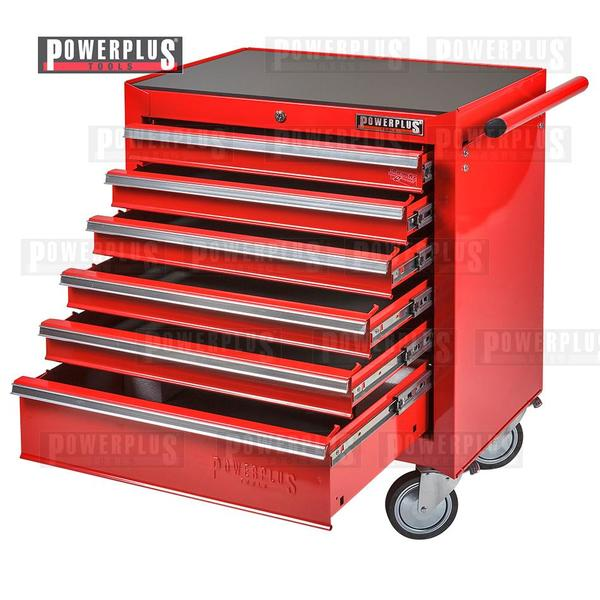 Werkstattwagen Rot mit 6 Schubladen -
