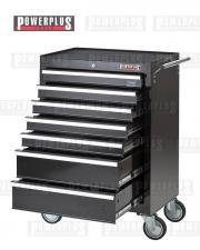 Werkstattwagen Schwarz 7 Schubladen mit