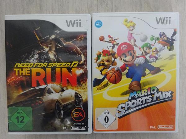 Wii Spiele - Viernheim - Wii Spiele (Mario Sportmix + Need for Speed/The Run) je 15EUR - Viernheim