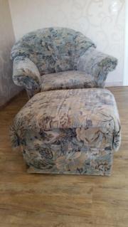 Wohnzimmergarnitur mit Sessel
