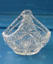 wunderschönes Bleikristall Körbchen
